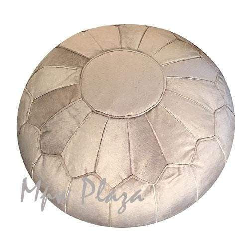 Velvet Square Pouf Bronze w embroidery 15x18