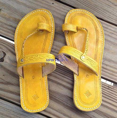 Sandal Moroccan Leather, Yellow - MPW Plaza (R)