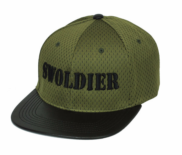 Swoldier Nation Snapback Hat Green/Black