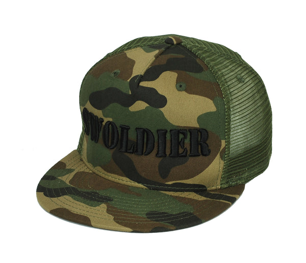 Swoldier Nation Snapback Hat Camo Mesh