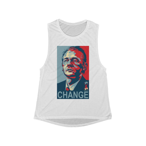Wikileaks CHANGE- Women's Flowy Scoop Muscle Tank