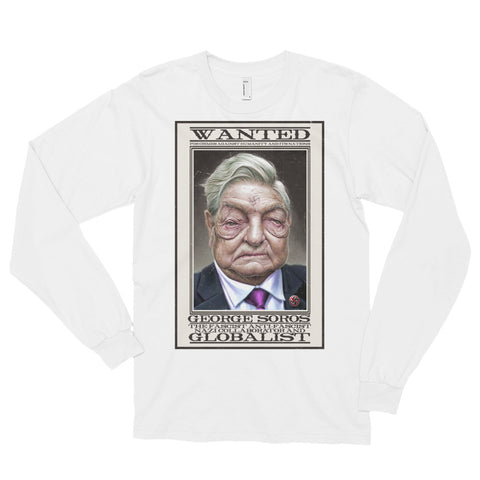 WANTED- American Apparel 2007 Unisex Fine Jersey Long Sleeve T-Shirt