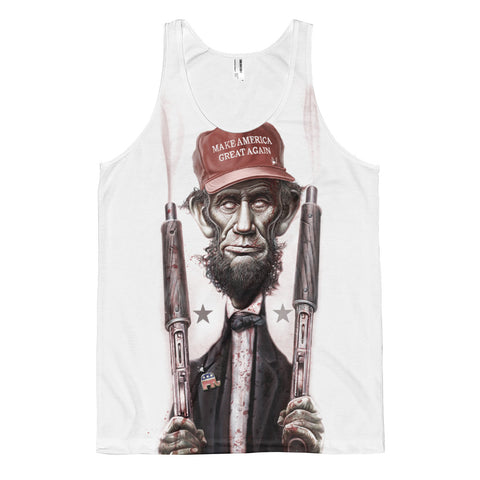 ZOMBIE MAGA LINCOLN (Large Print)-  American Apparel PL408W Sublimation Tank