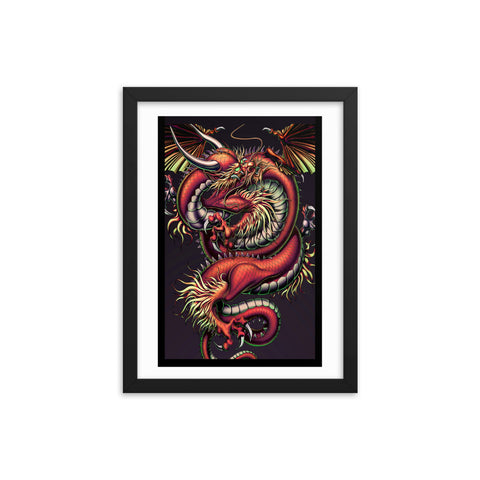 DRAGON ENERGY- Framed matte paper poster