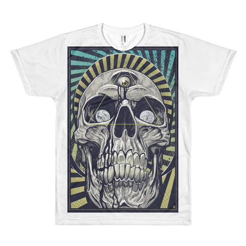 DEATH AND TAXES- American Apparel PL401W Sublimation T-Shirt