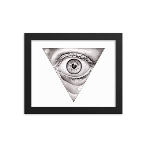 PENCIL EYE- Framed photo paper poster