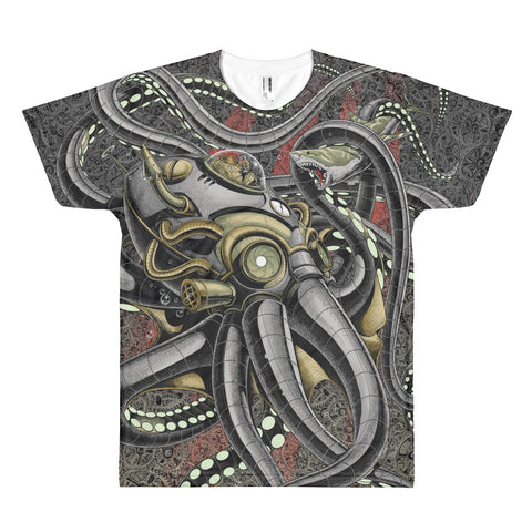 ROBO-OCTOPUSSY (Cogs)- American Apparel PL401W Sublimation T-Shirt