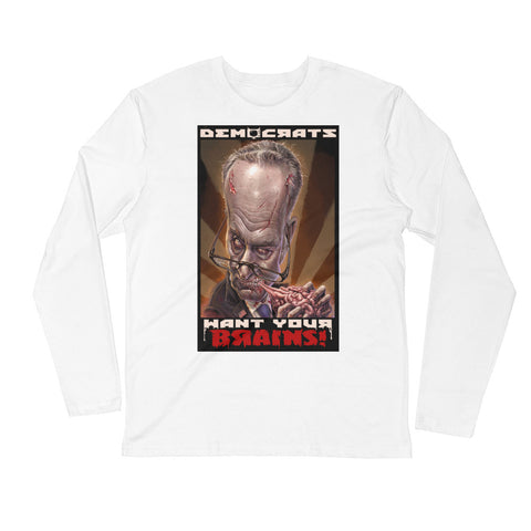ZOMBIE CHUCK SCHUMER- Long Sleeve Fitted Crew