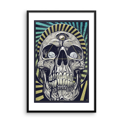 DEATH AND TAXES- Framed photo paper poster