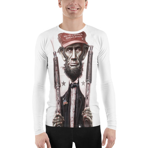 ZOMBIE MAGA LINCOLN (Large Print)- Longsleeve Rash Guard