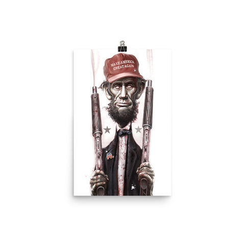 ZOMBIE MAGA LINCOLN- Matte paper poster