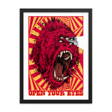 OPEN YOUR EYES- Framed matte paper poster