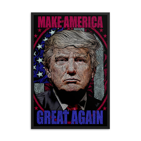 PRESIDENT DONALD J. TRUMP- Framed photo paper poster
