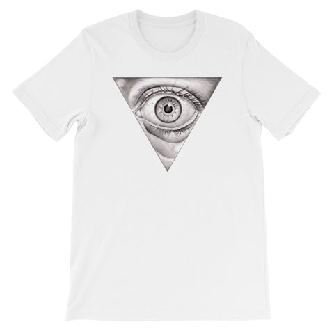 PENCIL EYE- Bella + Canvas 3001 Unisex Short Sleeve Jersey T-Shirt with Tear Away Label