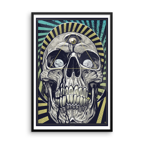 DEATH AND TAXES- Framed matte paper poster