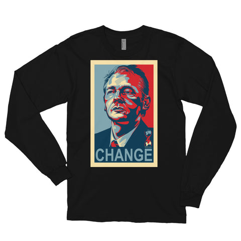 WIKILEAKS CHANGE- Long sleeve t-shirt