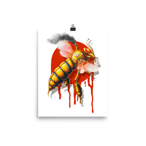 MECHANICAL BEE- Matte paper poster