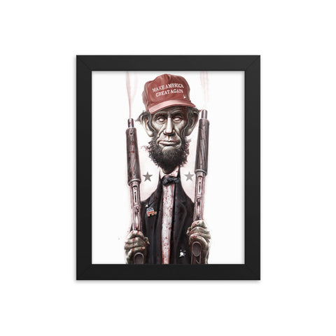 ZOMBIE MAGA LINCOLN- Framed matte paper poster