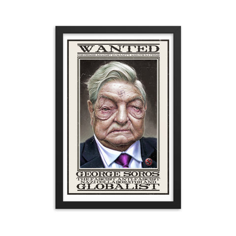 WANTED- Framed matte paper poster