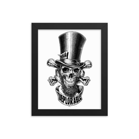 DEPLORABLE ABE- Framed photo paper poster