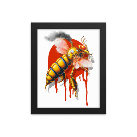 MECHANICAL BEE- Framed photo paper poster