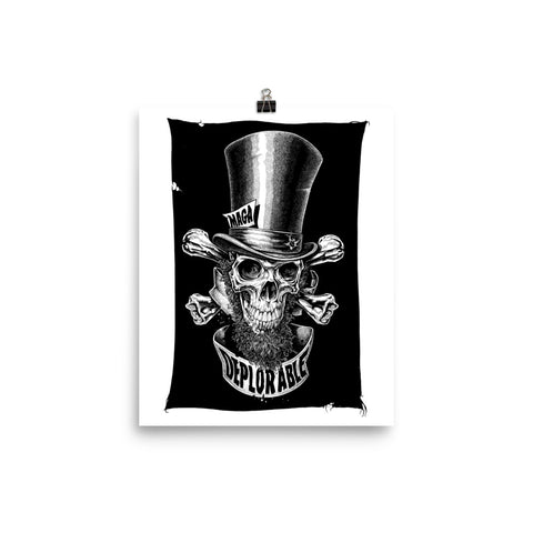 DEPLORABLE ABE LINCOLN JOLLY ROGER- Photo paper poster