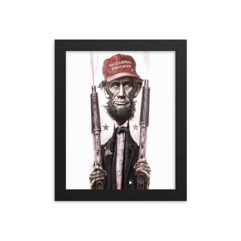 ZOMBIE MAGA LINCOLN- Framed photo paper poster
