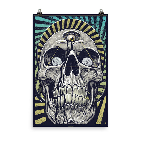 DEATH AND TAXES- Matte paper poster