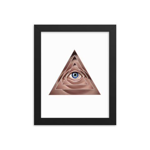 THE ILLUSION OF EXTERNAL AUTHORITY- Framed matte paper poster