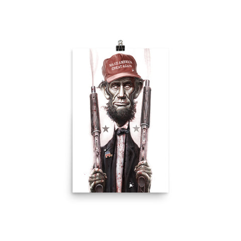 ZOMBIE MAGA LINCOLN- Photo paper poster