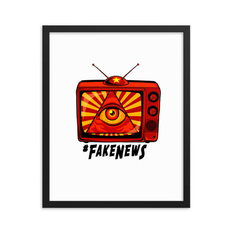 GLOBALIST FAKE NEWS- Framed photo paper poster