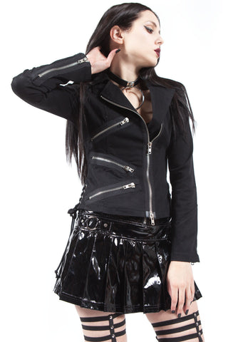 Chained To The Radiator Moto Jacket-Jacket-Lip Service