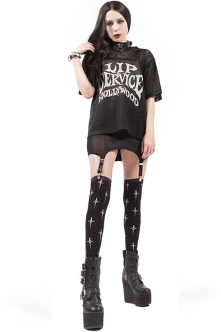 Dagger Print Thigh High Socks - Thigh Highs - Lip Service