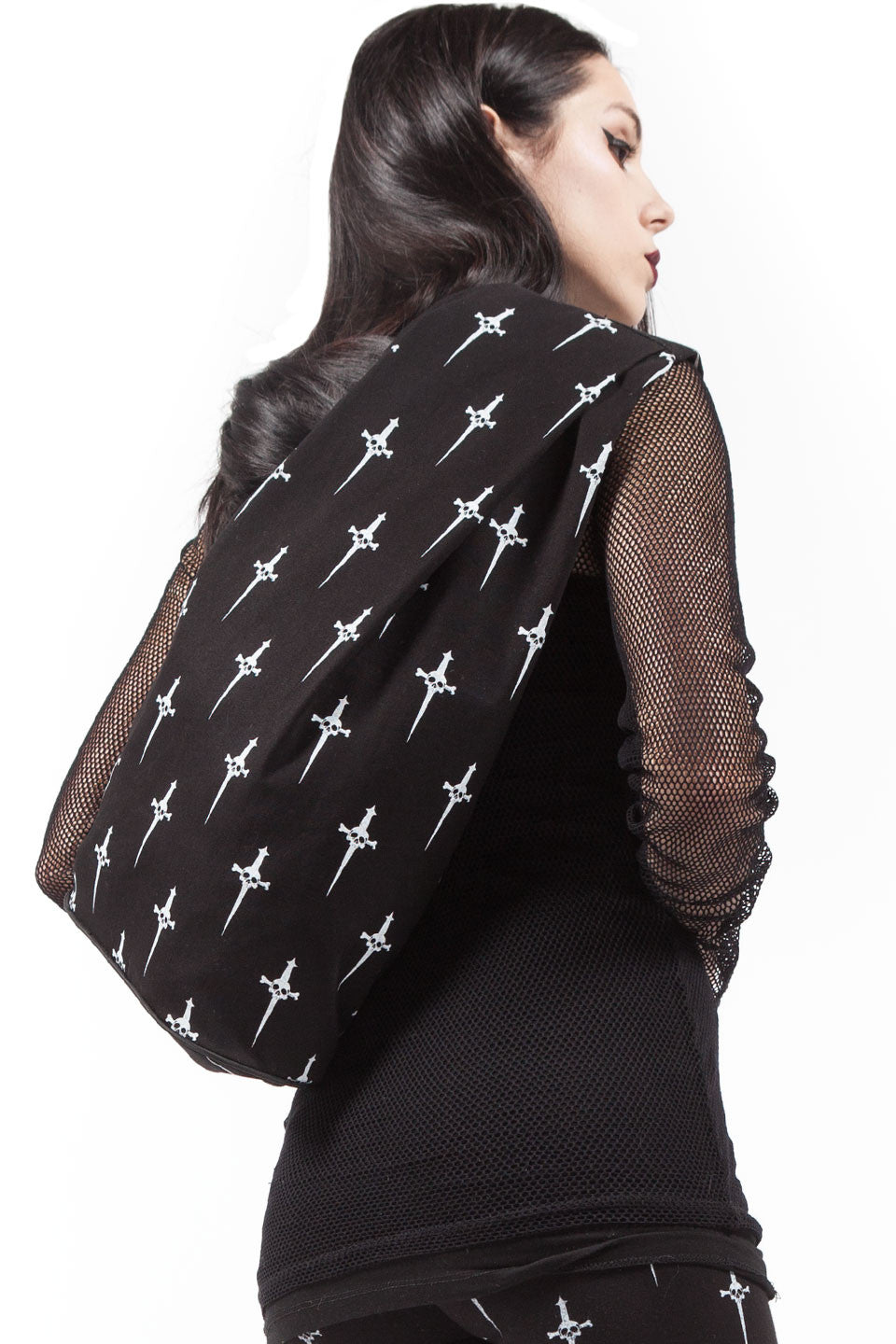 Dagger Print Large Back Pack-Accessories-Lip Service
