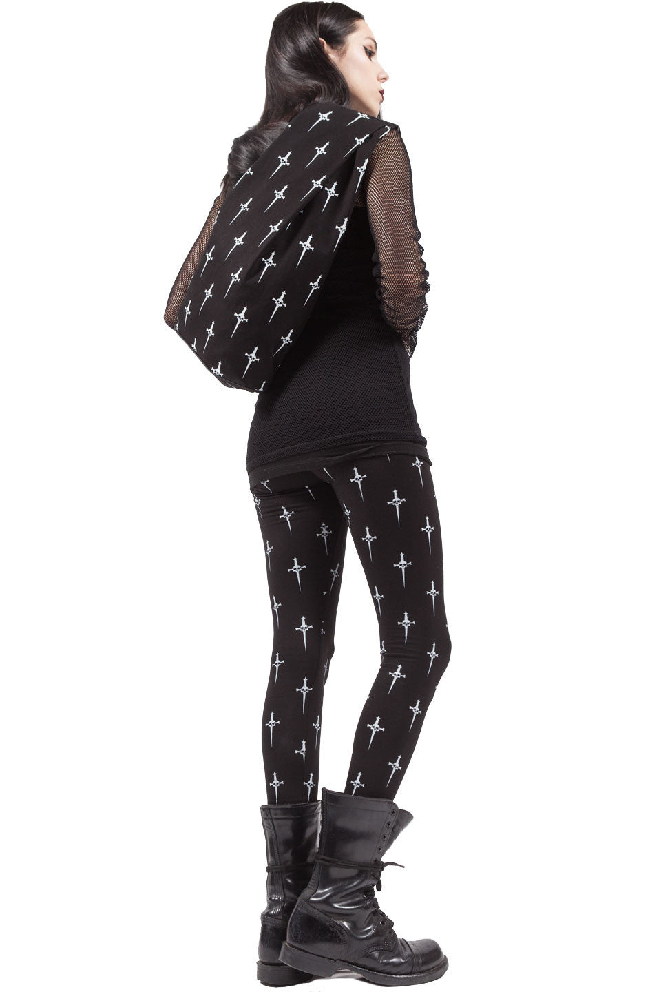 Dagger Print Large Backpack-Accessories-Lip Service