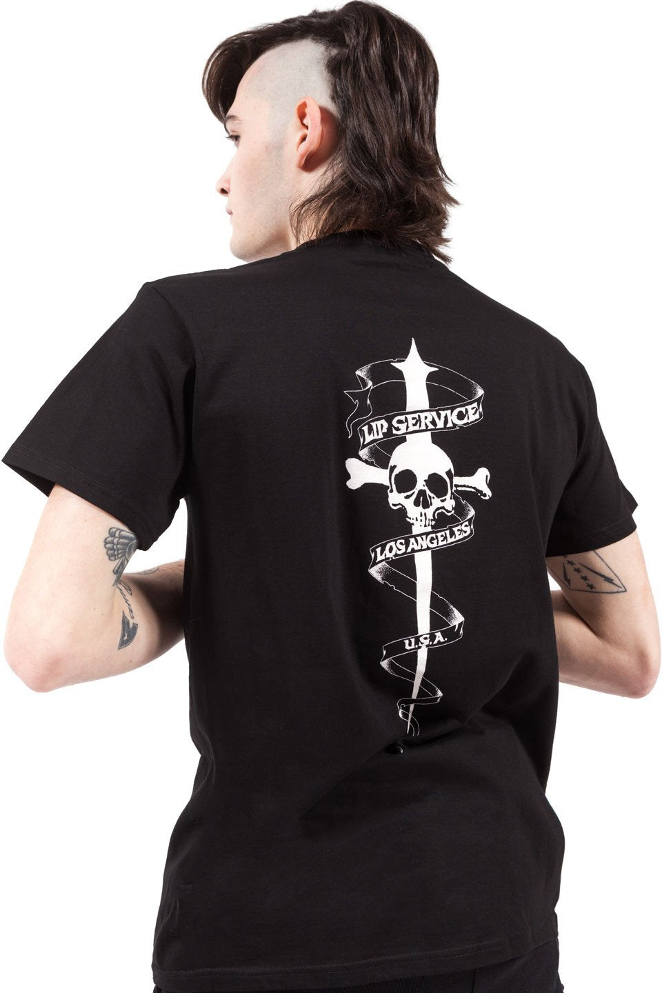 Cross Bones T-shirt-Tops-Lip Service