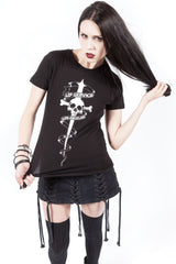 Dagger Tattoo Tee-Tops-Lip Service