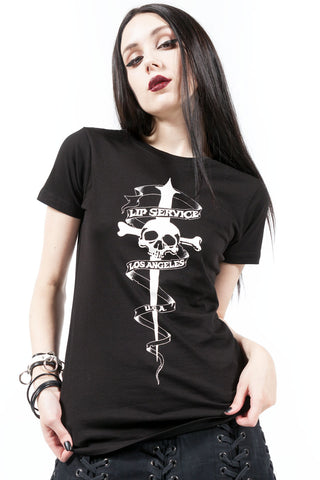 Dagger Tattoo Tee - Tops - Lip Service
