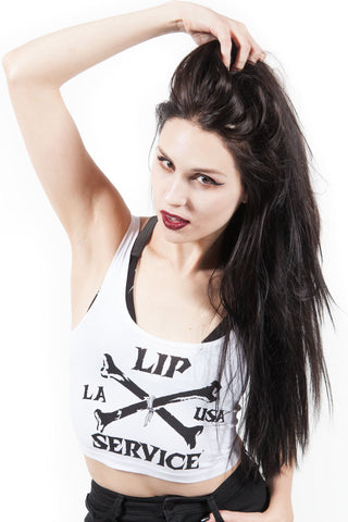 Cross Bones Tank-Tops-Lip Service