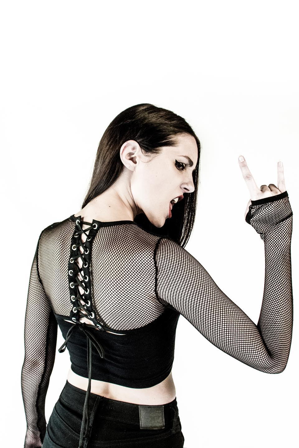 Fishnet Shrug-Tops-Lip Service