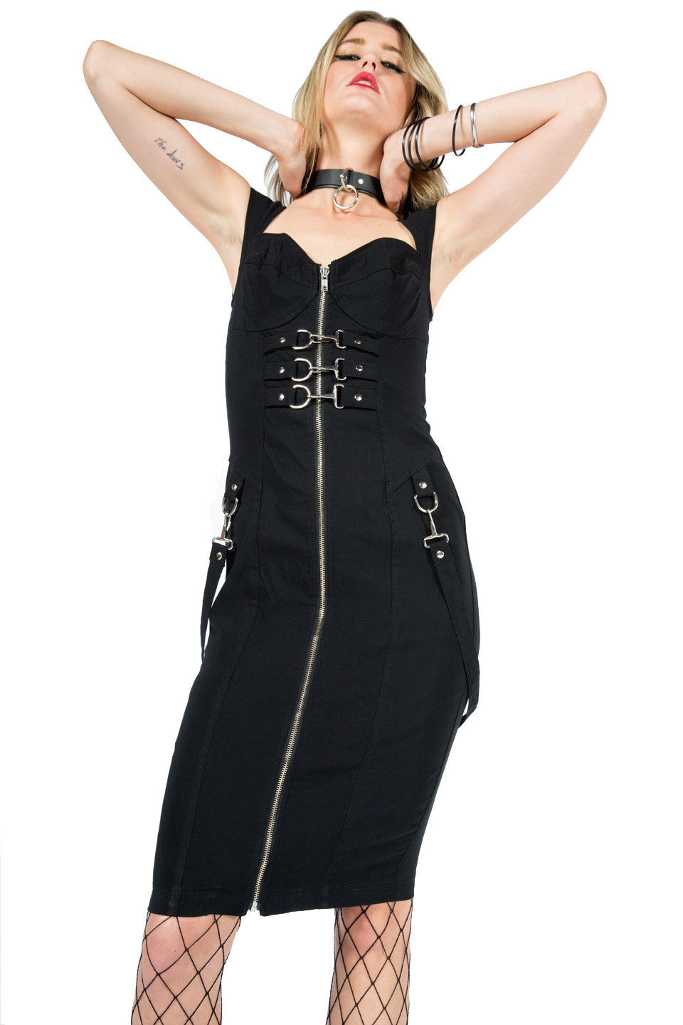 Vintage Piece of Work Bondage Dress-Dresses-Lip Service