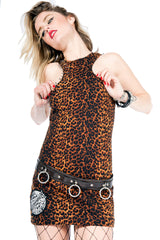 Vintage Little Miss Leopard Dress-Dresses-Lip Service
