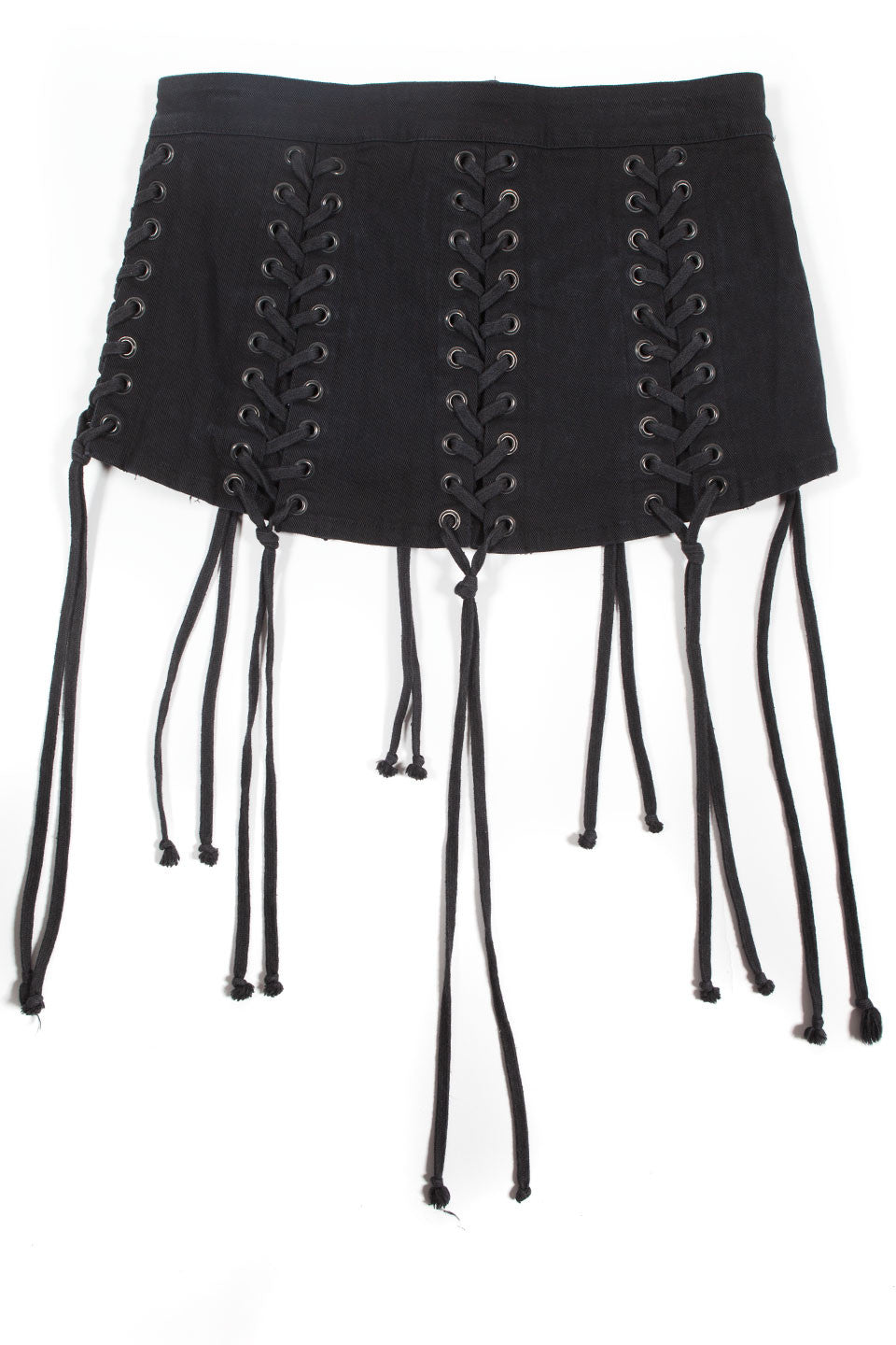Lace Up Micro Mini Skirt-Dresses-Lip Service