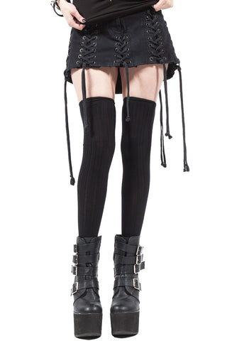 Lace Up Micro Mini Skirt - Dresses - Lip Service