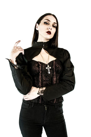 Vintage Darkness Shrug-Tops-Lip Service