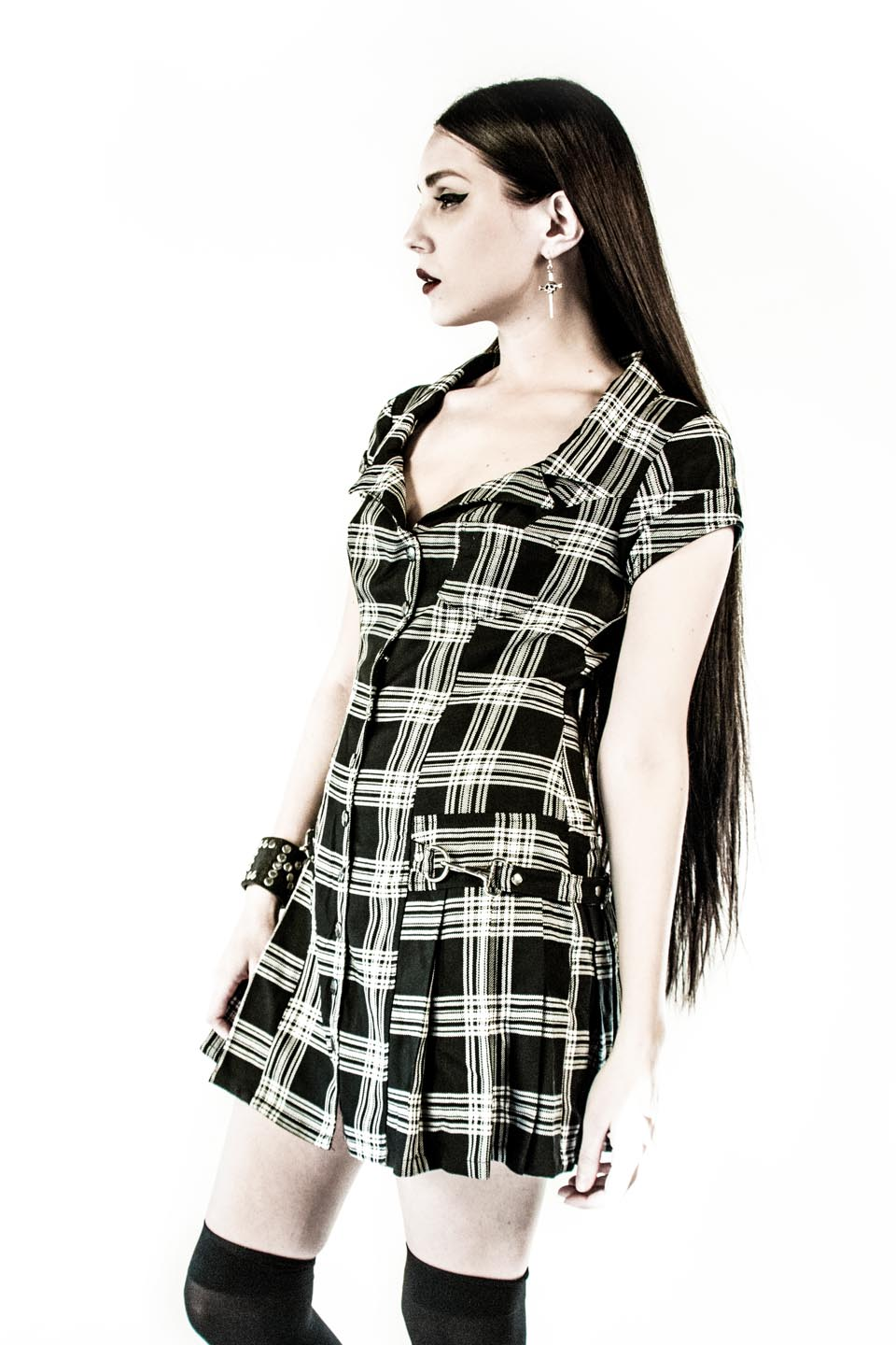 Vintage Punk & Disorderly Dress-Dresses-Lip Service