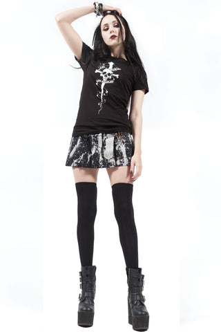 Porn Splatter Mini Skirt-Dresses-Lip Service