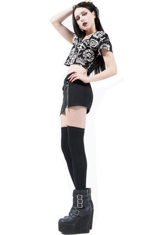 Punk & Disorderly Micro Zip Mini-Skirts-Lip Service