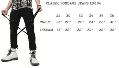 Cross Strap Stretch Jeans-Bottoms-Lip Service