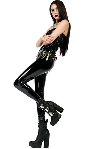 4-Way Stretch PVC Leggings-Leggings-Lip Service